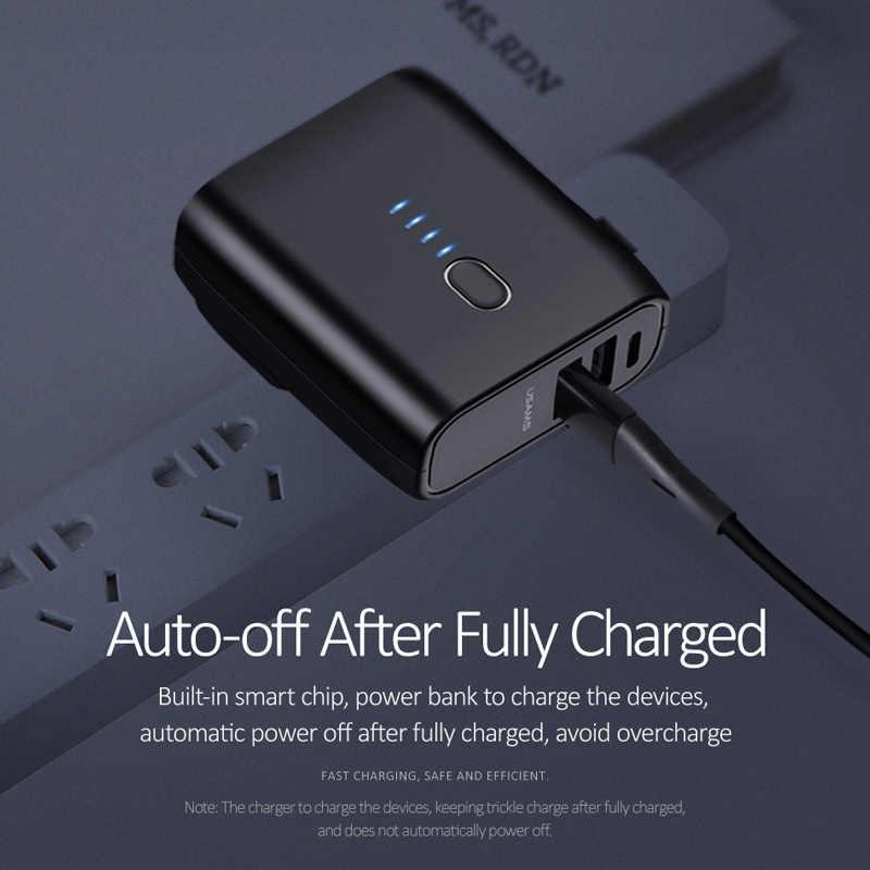 Củ sạc kiêm pin sạc dự phòng tự động ngắt dòng tích hợp 2 cổng sạc USB và Type C USAMS US-CD71 PB11 Dual USB Charger Power Bank  EU 5000mAh mua ở đâu giá tốt
