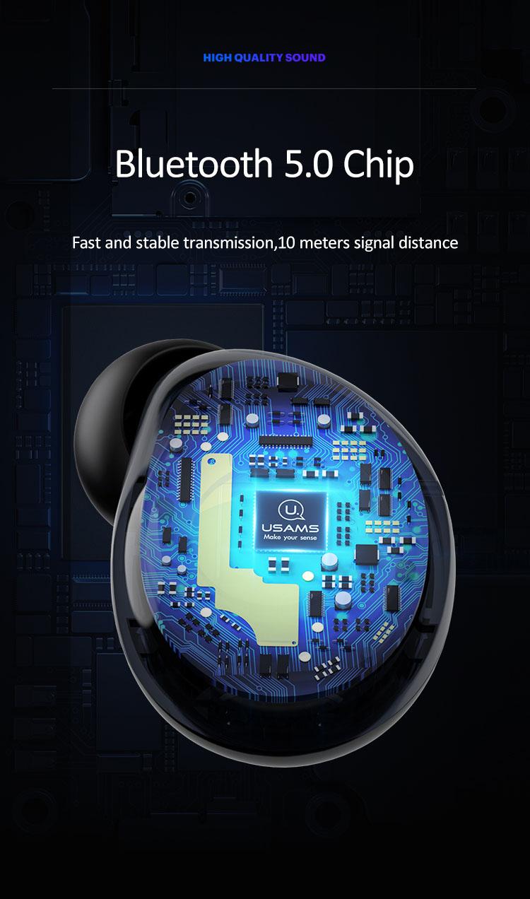 Tai nghe Earphone không dây Bluetooth 5.0 tích hợp khả năng chống ồn USAMS-LI Dual