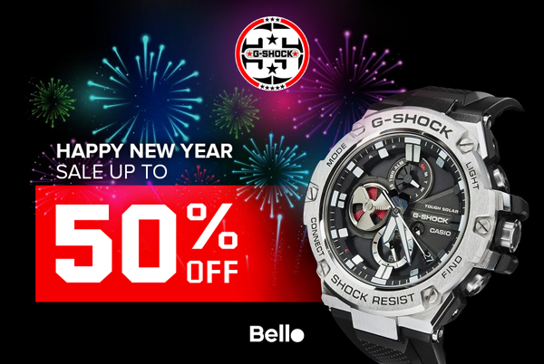 Happy New Year - G-Shock SALE up to 50% tại Bello Lê Thái Tổ