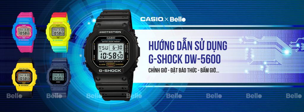 Hướng dẫn sử dụng đồng hồ Casio G-Shock DW-5600 - Module 3229 - 3421 - 1545