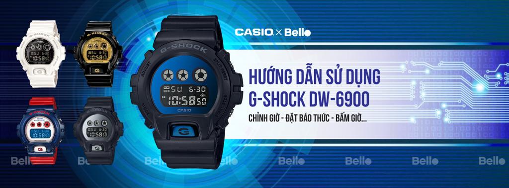 Hướng dẫn sử dụng đồng hồ Casio G-Shock DW-6900 - Module 3230 - 1289 - 3232