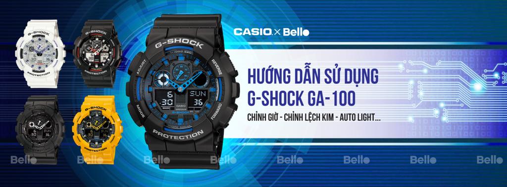 Hướng dẫn sử dụng đồng hồ Casio G-Shock GA-100 - Module 5081