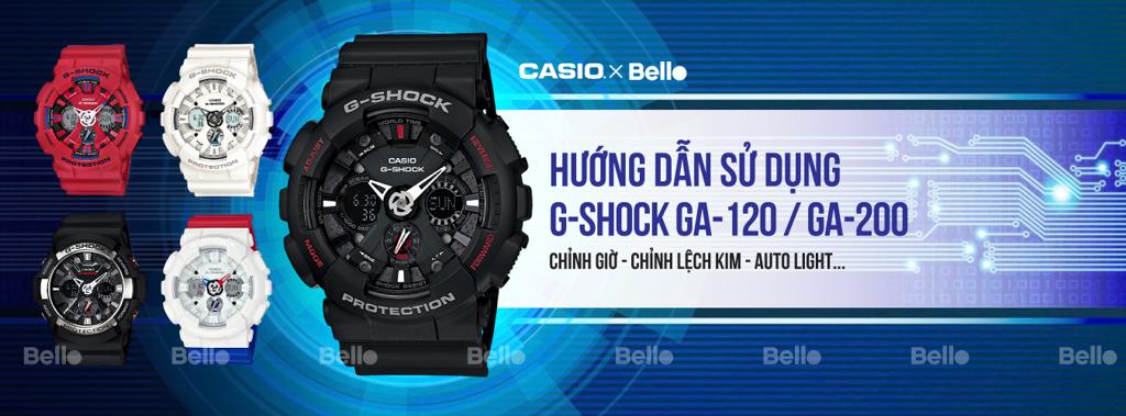 Hướng dẫn sử dụng đồng hồ Casio G-Shock GA-120 & GA-200 - Module 5229