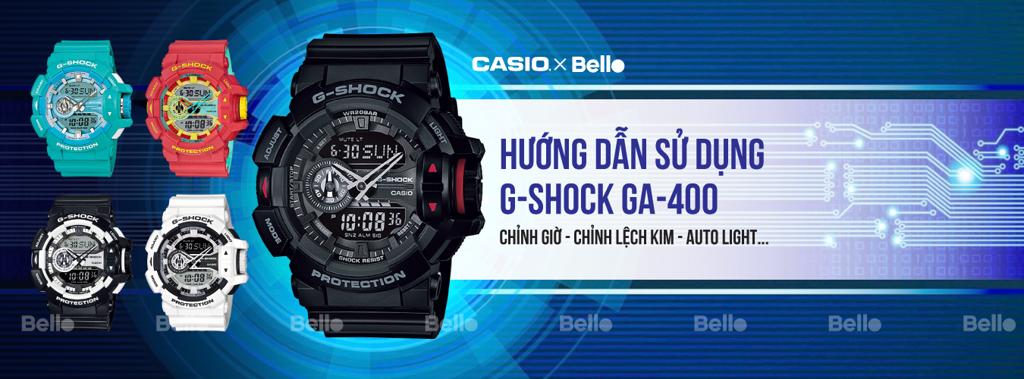 Hướng dẫn sử dụng đồng hồ Casio G-Shock GA-400 - Module 5398