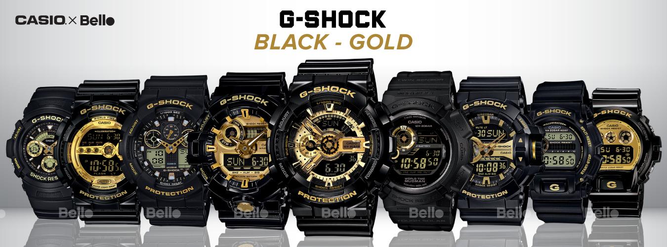 G-Shock Black & Gold | Màu Đặc biệt | Đồng hồ Nam Chính Hãng Giá Rẻ