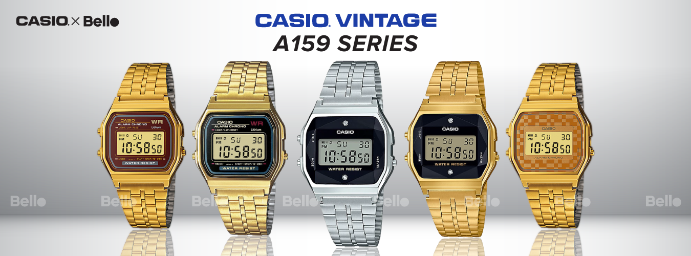 Casio Vintage Gold A159 Series