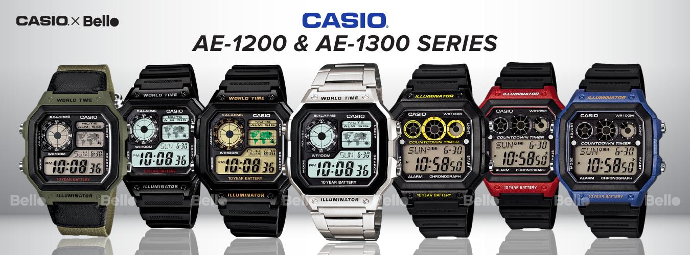 Casio Standard AE-1200 & AE-1300 Series