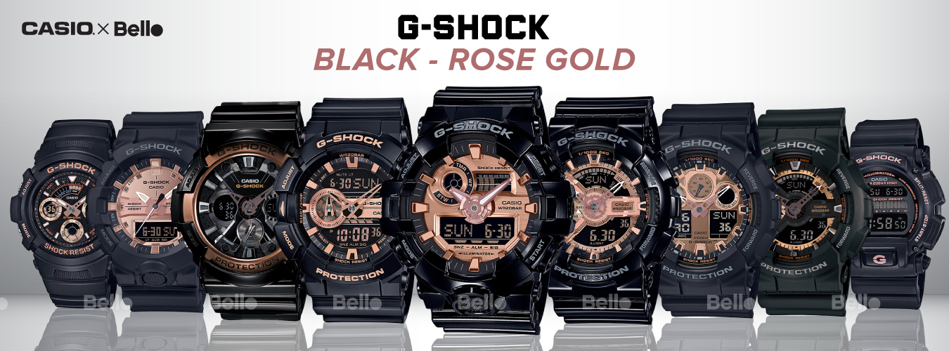 G-Shock Black & Rose Gold