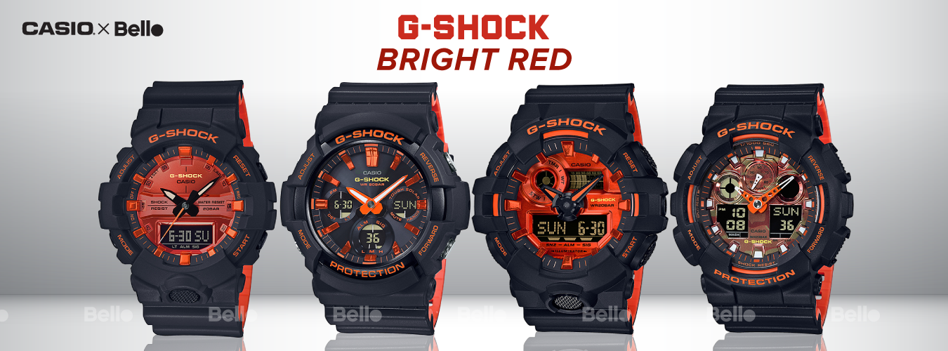 G-Shock Bright Red