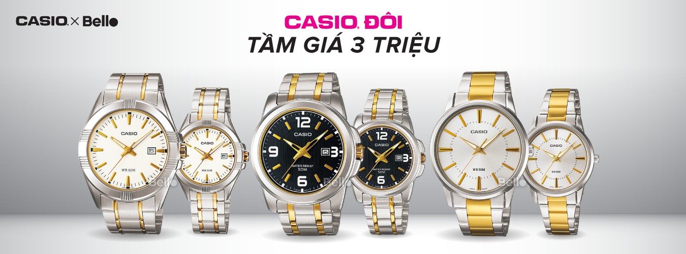 Casio Đôi Tầm giá 3 triệu