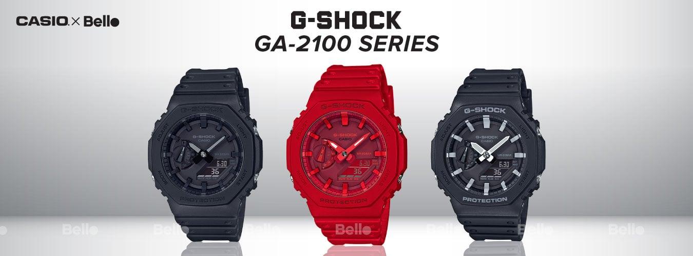 G-Shock GA-2100 G-Shock Kim Số tuyệt đẹp với Cấu trúc bảo vệ lõi Carbon Core Guard