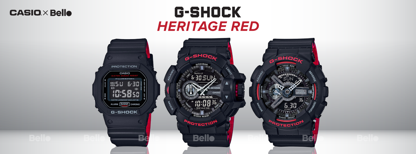 G-Shock Heritage Red