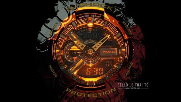 One Piece x G-Shock GA-110JOP-1A4 đèn LED