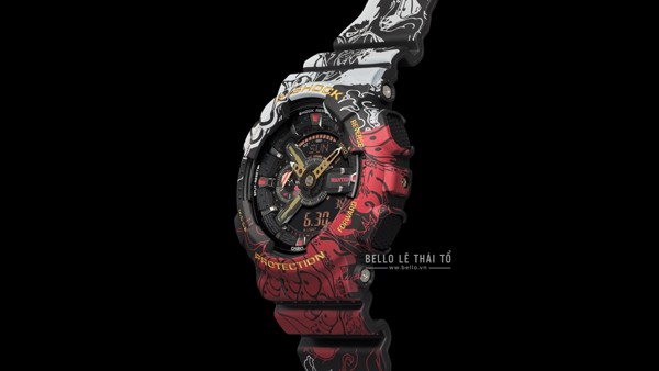 One Piece x G-Shock GA-110JOP-1A4 mặt bên