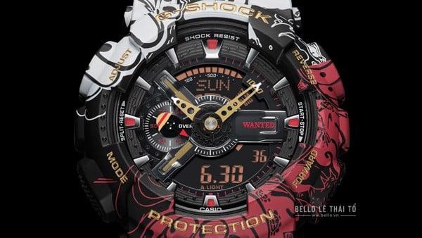 One Piece x G-Shock GA-110JOP-1A4 mặt đồng hồ