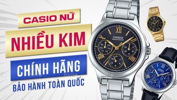 Đồng hồ Casio Nữ Nhiều Kim 6 Kim