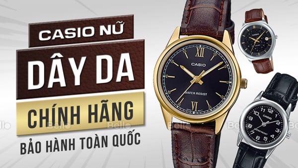 Đồng hồ Casio Nữ dây da