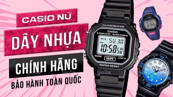 Đồng hồ Casio Nữ Dây Nhựa, Cao su
