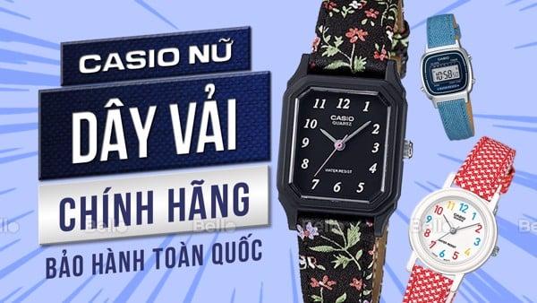 Đồng hồ Casio Nữ Dây Vải