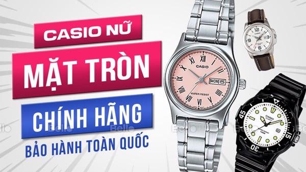 Đồng hồ Casio Nữ Mặt Tròn