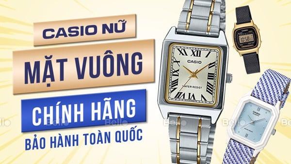 Đồng hồ Casio Nữ Mặt Vuông, Chữ Nhật