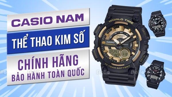 Đồng hồ Casio Thể thao Kim-Số