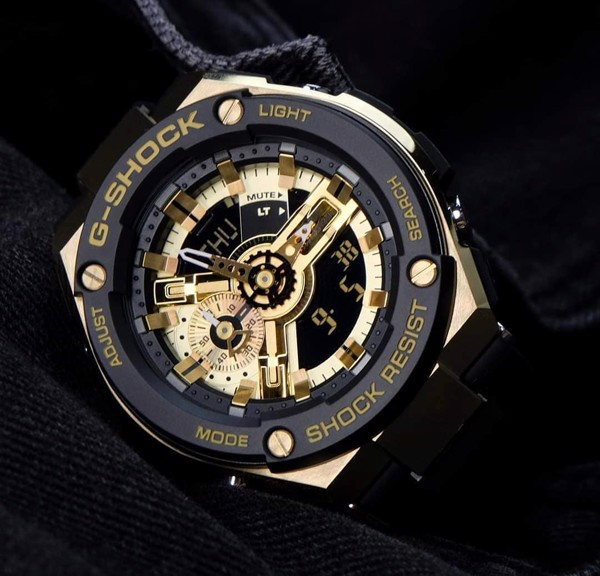 G-Shock G-Steel Black & Gold GST-400G-1A9