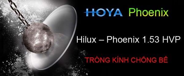 Siêu nhẹ, chống vỡ:HOYA Hilux Phoenix 1.53 Trivex
