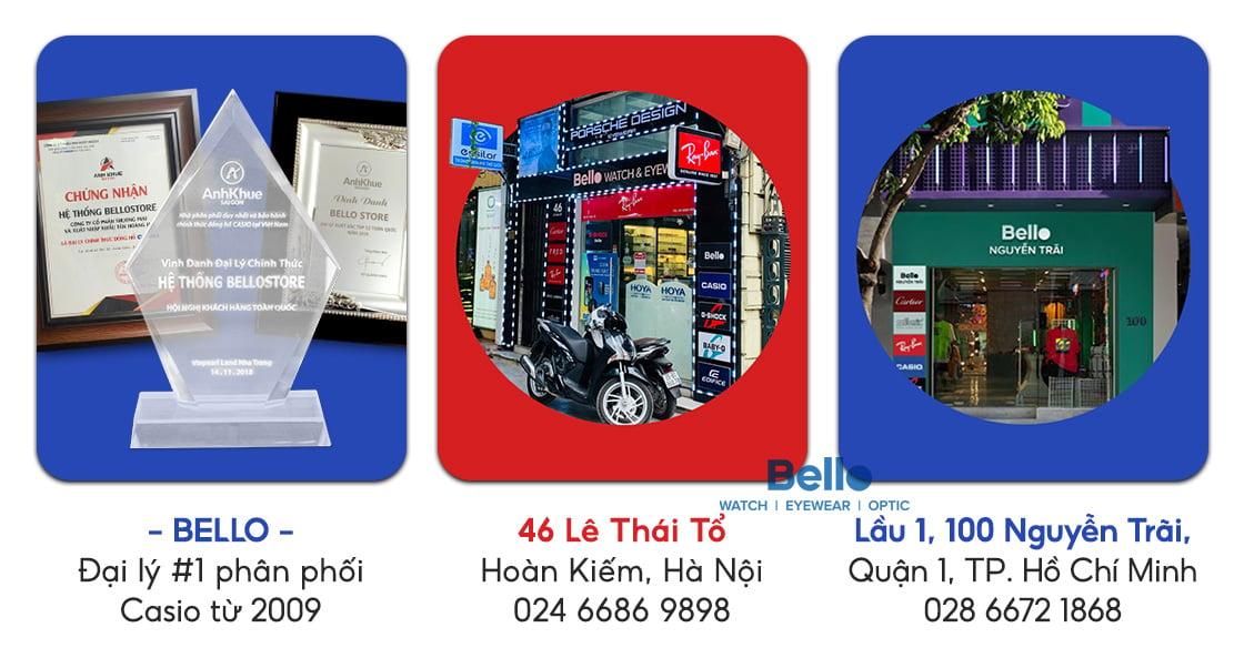 Trải nghiệm đồng hồ Casio chính hãng tại Bello Hà Nội và thành phố Hồ Chí Minh