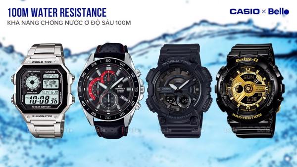 100M Water Resistance - Khả năng chống nước ở độ sâu 100 mét