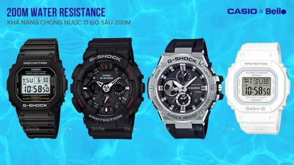 200M Water Resistance - Khả năng chống nước ở độ sâu 200 mét
