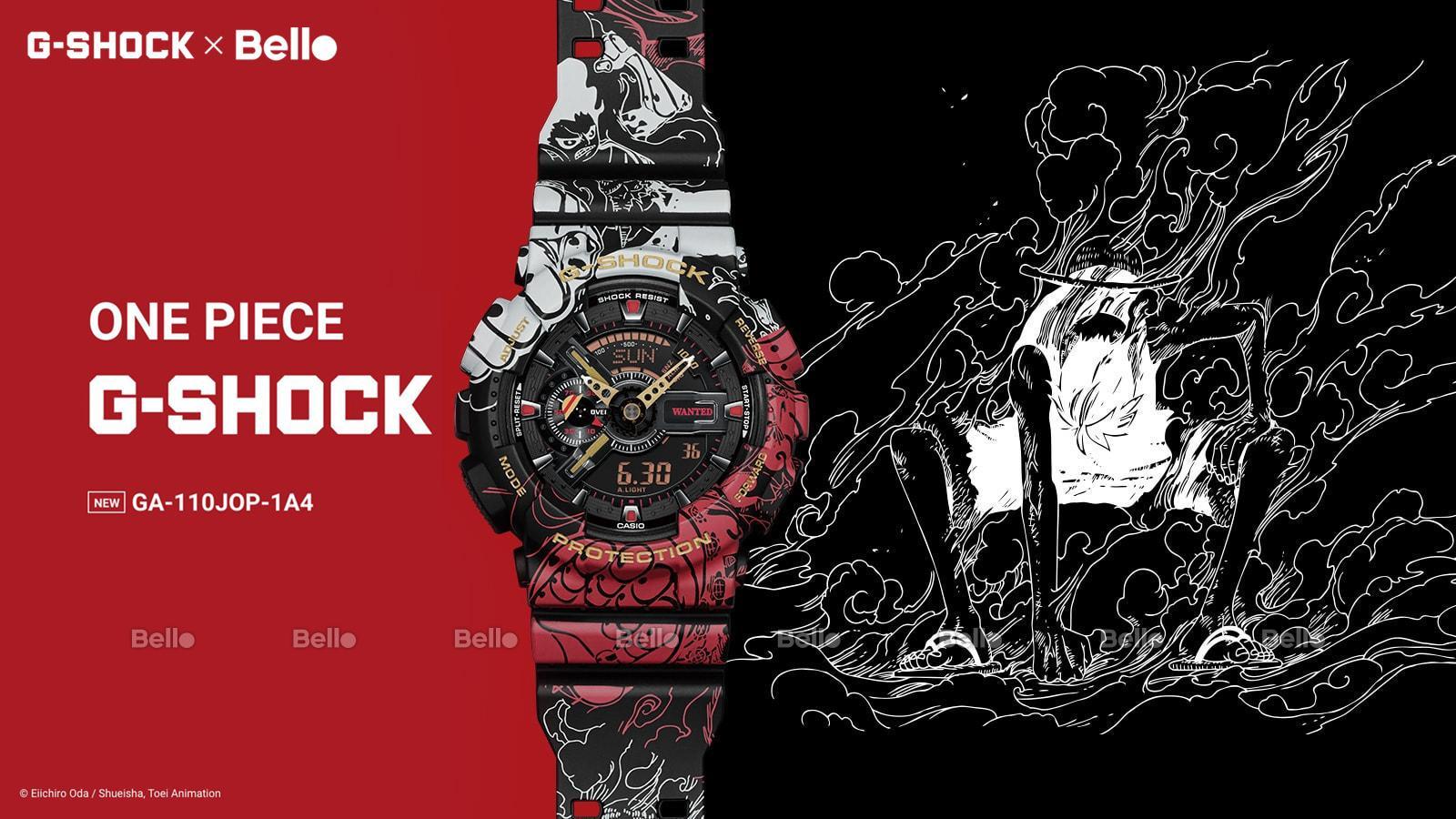 One Piece x G-Shock GA-110JOP-1A4 Phiên bản hợp tác siêu giới hạn