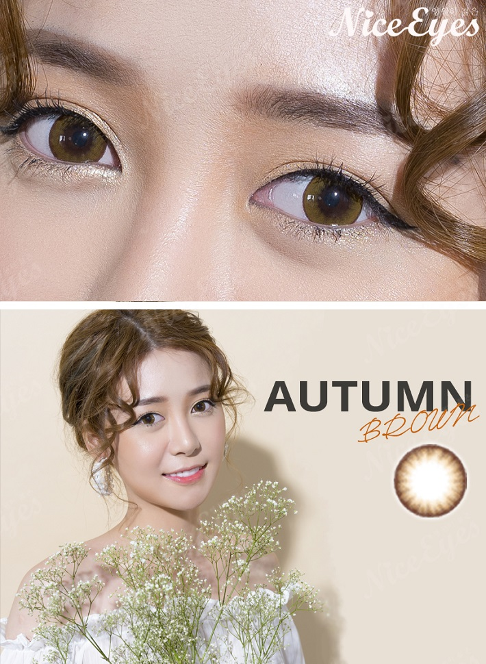 kinh ap trong silicone hydrogel autumn brown 3