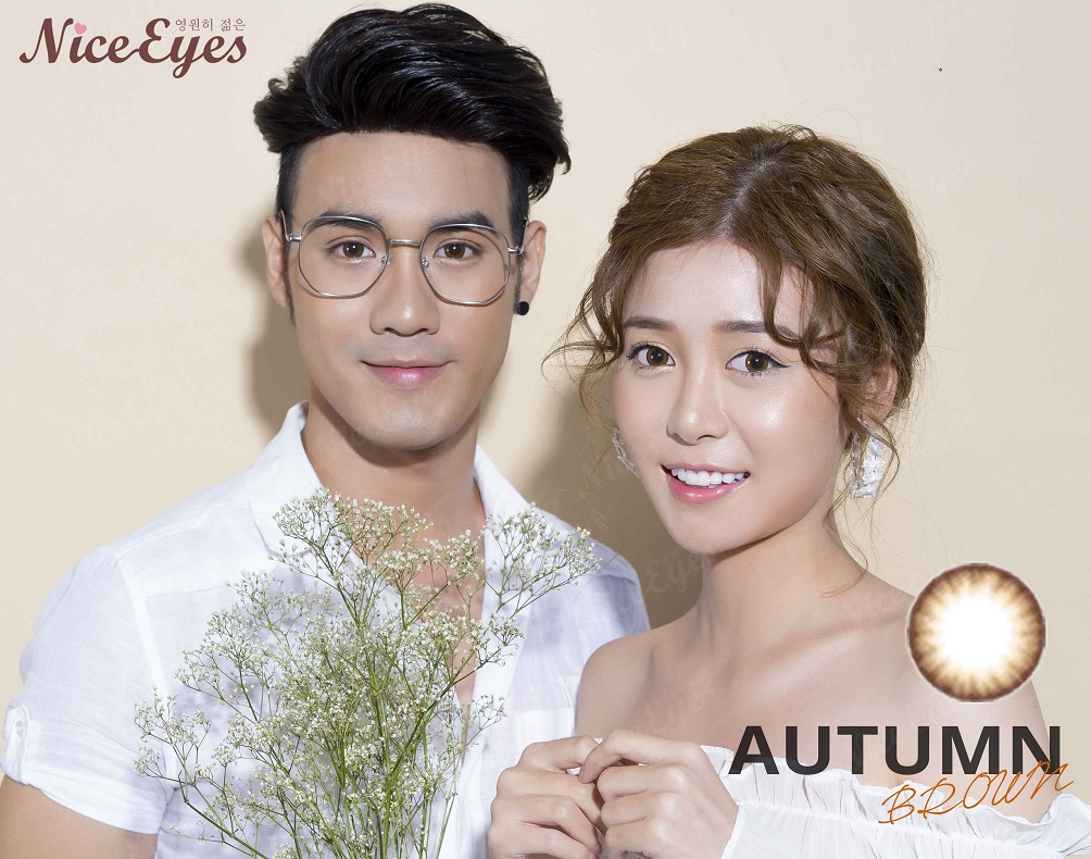 kinh ap trong silicone hydrogel autumn brown 4