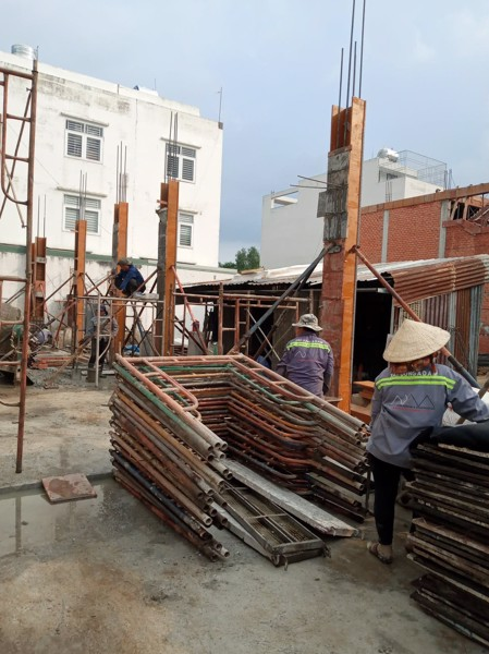 Đổ bê tông công trình khu dan cư phú lợi quận 8