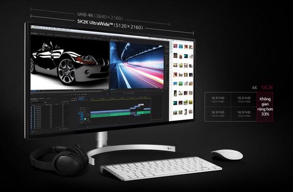"Màn hình LG 34WK95U-W 5K2K UltraWide 34"""