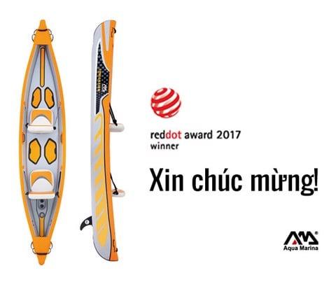 [HOT] Kayak bơm hơi Aqua Marina Tomahawk xuất sắc đạt giải thưởng Red Dot Design 2017 Award