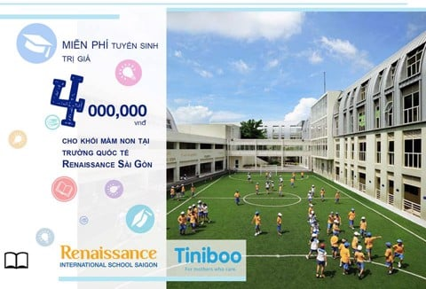 Buy Tiniboo kidswear to get 4 millions at Renaissance International School Saigon