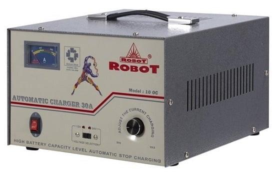 Máy sạc ắc quy robot mua ở đâu chính hãng?