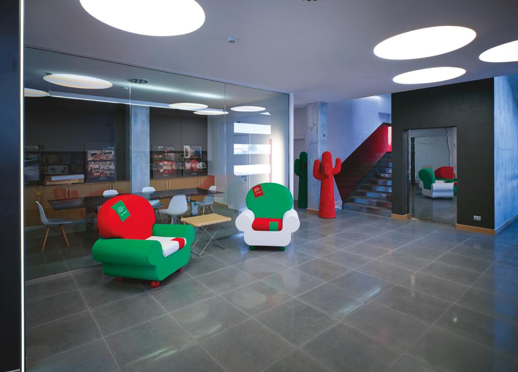 Không gian sử dụng gam màu Inox Lappato