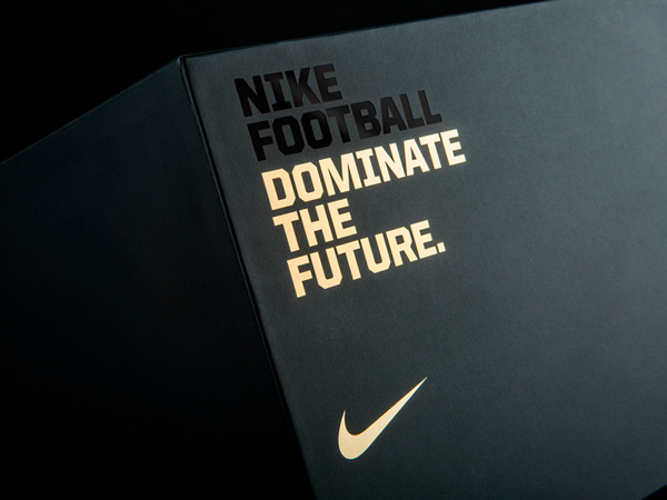 typo design outside Nike packaging