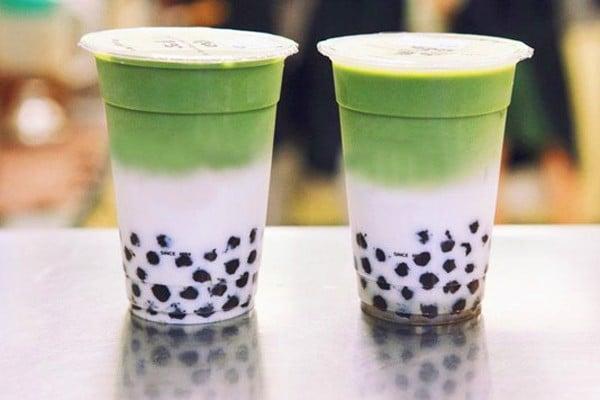 trà sữa matcha phân tầng