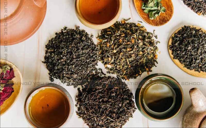 các loại trà pha trà sữa