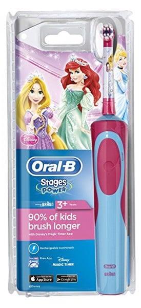 Bàn chải điện cho bé ORAL-B BRAUN staget power Disney hình công chúa