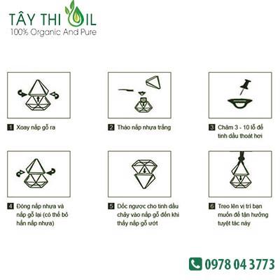 cách sử dụng tinh dầu treo xe 2