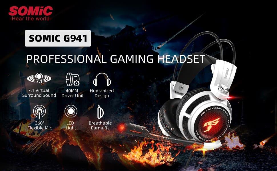 Tai nghe Gaming SOMIC G941 virtual 7.1