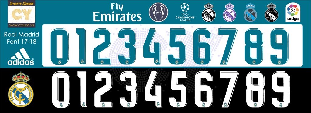 font real madrid đẹp
