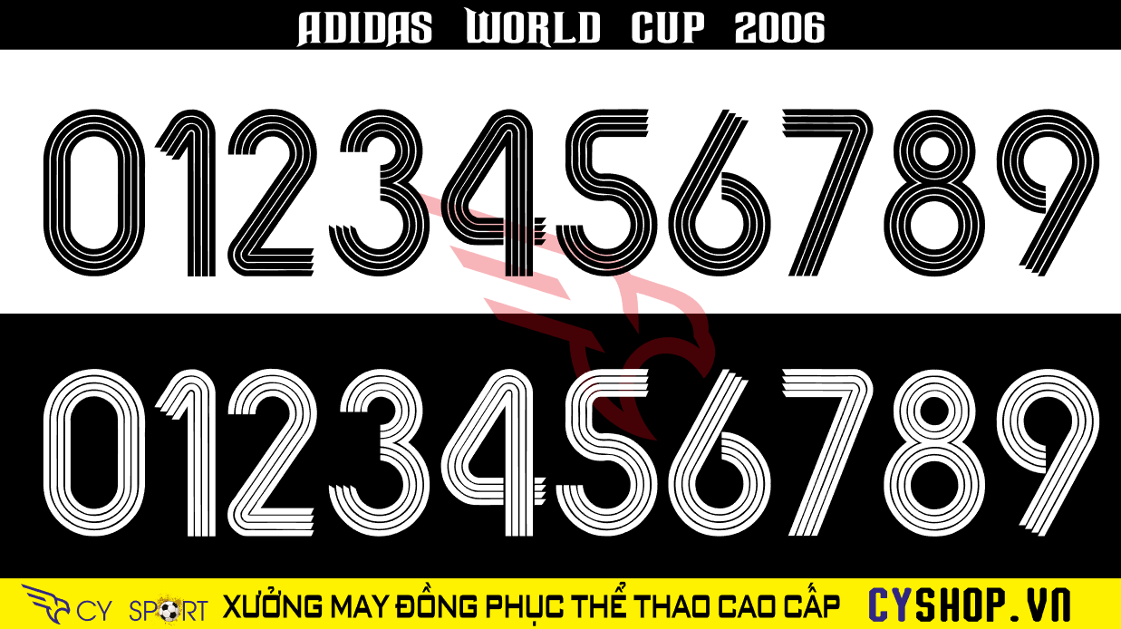 FONT NUMBER ADIDAS 2006
