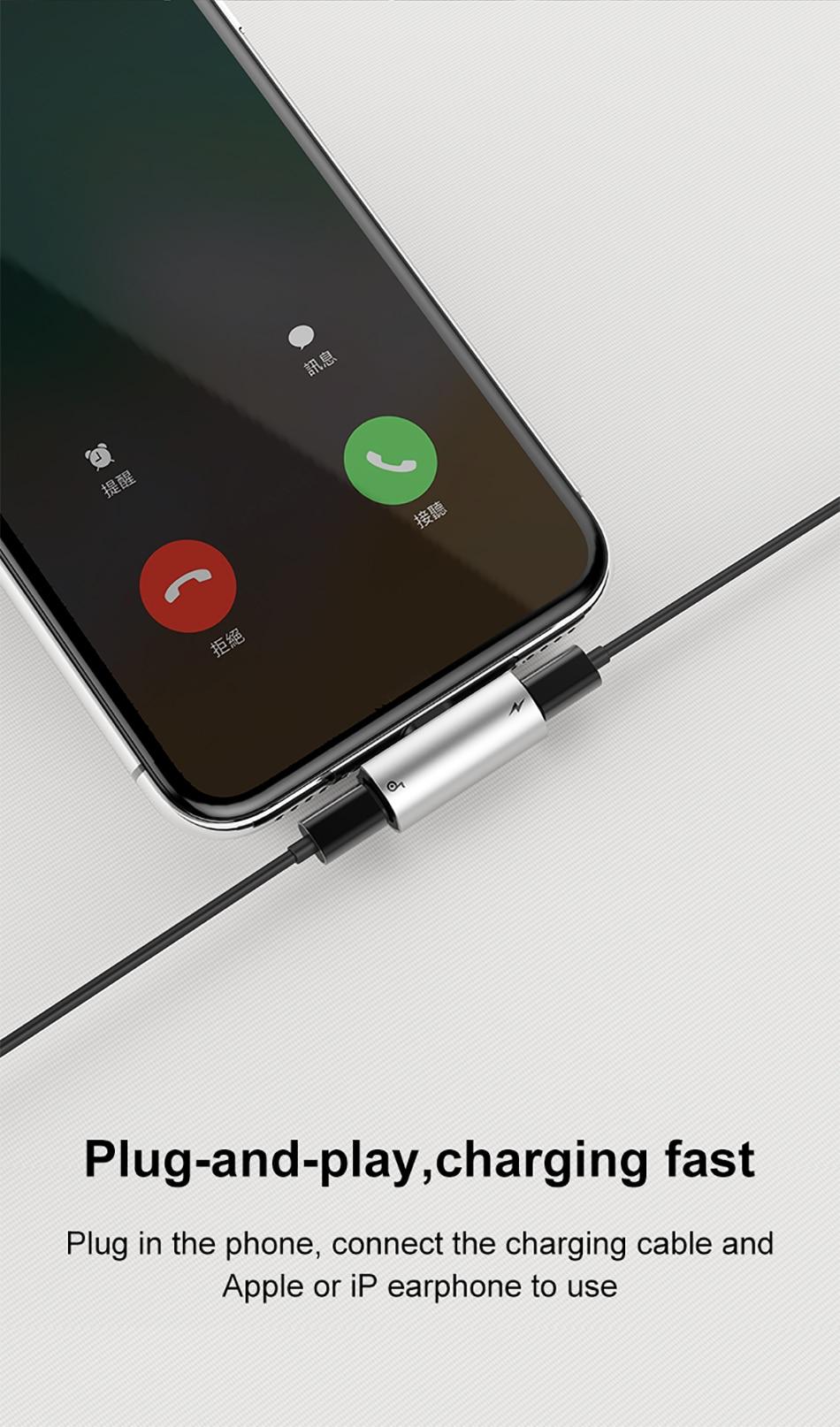 Bộ chia cổng Lightning 1 thành 2 Baseus L46 cho iPhone 7,8,X... - 6