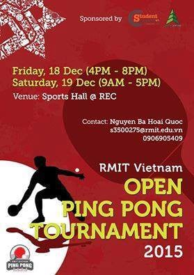 The Ping Pong Open Tournament 2015